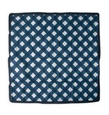 Little Unicorn 5x5 Outdoor Blanket: Navy Plaid
