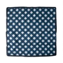 5x5 Outdoor Blanket: Navy Plaid
