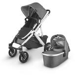 UPPAbaby UPPAbaby VISTA V2 Stroller - JORDAN (charcoal melange/silver/black leather)