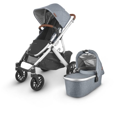 UPPAbaby UPPAbaby VISTA V2 Stroller - GREGORY (blue melange/silver/saddle leather)