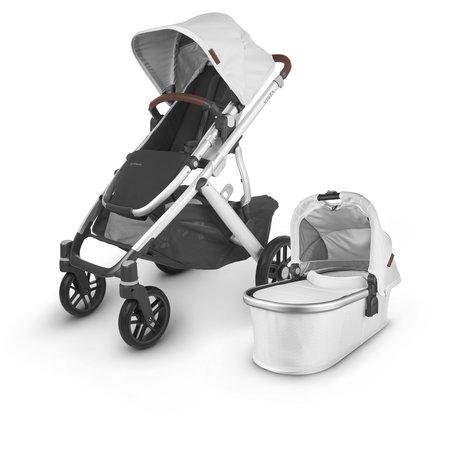 UPPAbaby UPPAbaby VISTA V2 Stroller - BRYCE (white marl/silver/chestnut leather)