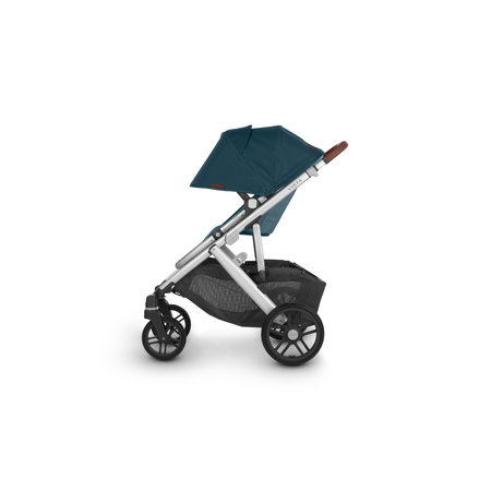 UPPAbaby UPPAbaby VISTA V2 Stroller- FINN (Deep Sea/Silver/Chestnut Leather)