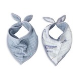 Little Unicorn Cotton Muslin Reversible Bandana Bib: Narwhal
