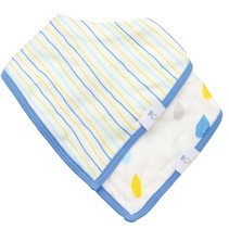 Muslin & Terry Cloth Bib Set- Stripes/Rain Drops