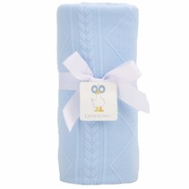 Knit Blanket- Blue