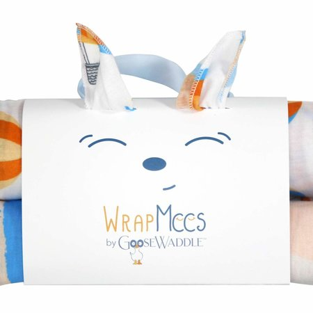 GooseWaddle Receiving Blankets- Bear/ Hot Air Balloons