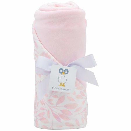 GooseWaddle Super Soft Blanket- Pink Leaf