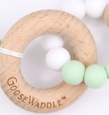 GooseWaddle Wooden and Silicone Teether- Green