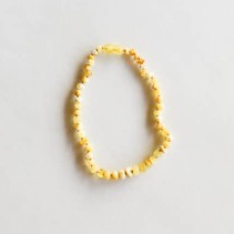 "Raw Butterscotch Amber Necklace- 11"""