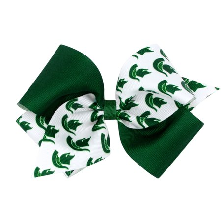 Wee Ones Color Block Bow Mini King MSU