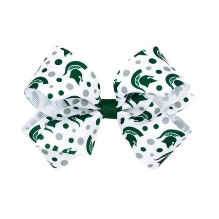 Wee Ones Signature Print Bow King MSU