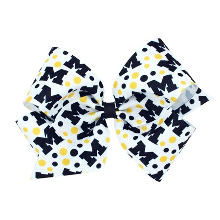 Wee Ones Signature Print Bow King U of M