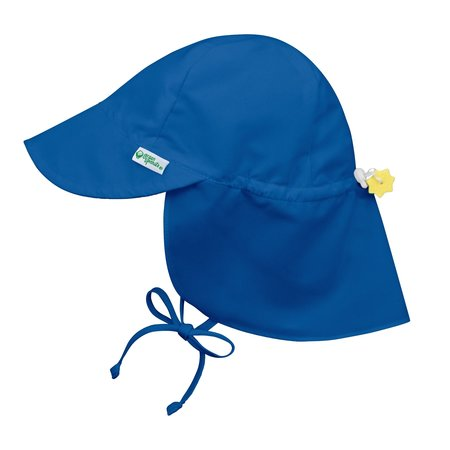 Green Sprouts Royal Blue Flap Sun Protection Hat 0/6 mo