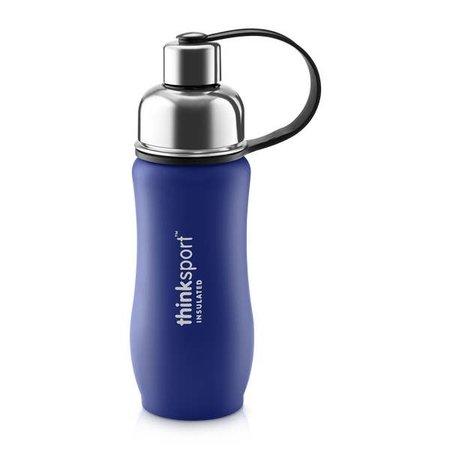 ThinkBaby 12 oz Insulated Sports Bottle- Coated Blue