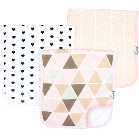Copper Pearl Burp Cloth Set (3-pack) Blush