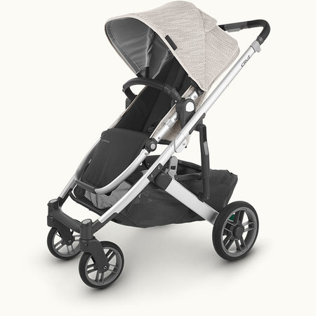 UPPAbaby UPPAbaby CRUZ V2 Stroller- SIERRA (Dune Knit/Silver/Black Leather)
