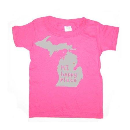 Megan Lee Designs MI Happy Place Kids Tee