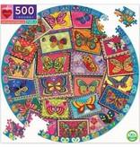 eeBoo Vintage Butterflies 500pc Round Puzzle
