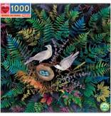 eeBoo Birds in Fern 1000pc Puzzle