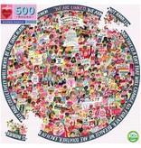 eeBoo Women March! 500pc Round Puzzle