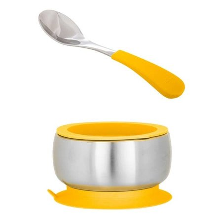 Avanchy Stainless Steel Suction Bowl w/Airtight Lid and Spoon