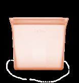 Zip Top Silicone Sandwich Bag- Peach