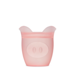 Zip Top Silicone Baby Snack Container- Pink Pig