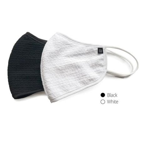 Komuello Adult Cloth Mask w/ Filter Pouch- White