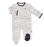 Magnetic Me Organic Cotton Magnetic Footie- Going Places