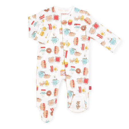 Magnetic Me Organic Cotton Magnetic Footie- Better Together