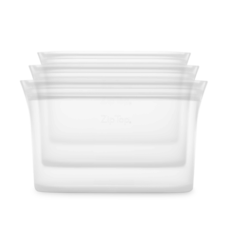 Zip Top Silicone Dish Set (S,M,L)- Frost
