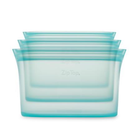 Zip Top Silicone Dish Set (S,M,L)- Teal