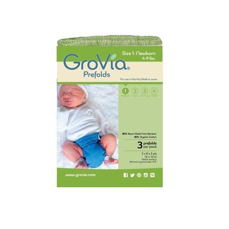 GroVia GroVia Prefold Cloth Diaper- Size 1 (3pk)