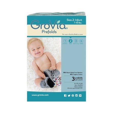 GroVia GroVia Prefold Cloth Diaper- Size 2 (3pk)