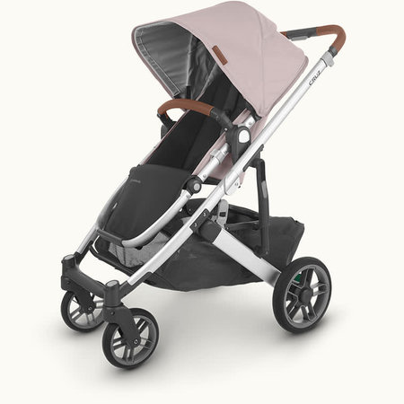 UPPAbaby UPPAbaby Cruz V2 Stroller- ALICE (dusty pink/silver frame/saddle leather)