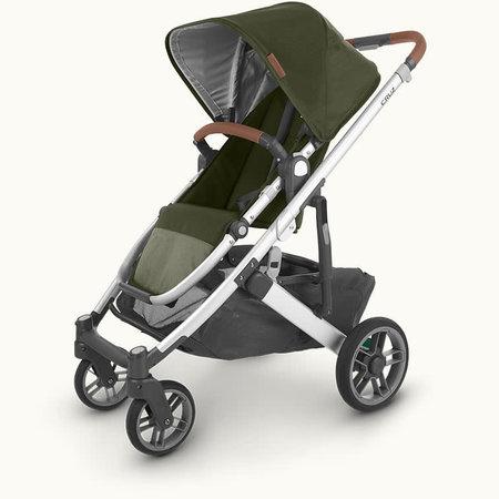 UPPAbaby UPPAbaby Cruz V2 Stroller- HAZEL (olive/silver frame/saddle leather)