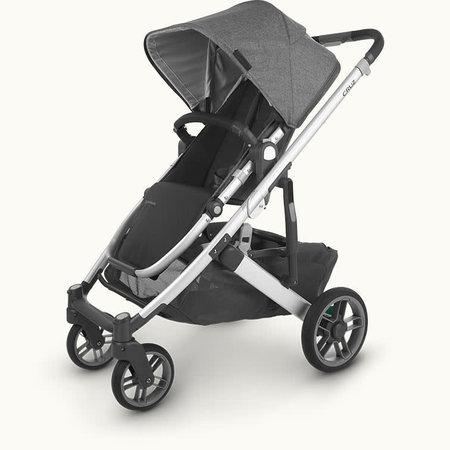 UPPAbaby UPPAbaby Cruz V2 Stroller- JORDAN (charcoal mélange/silver frame/black leather)