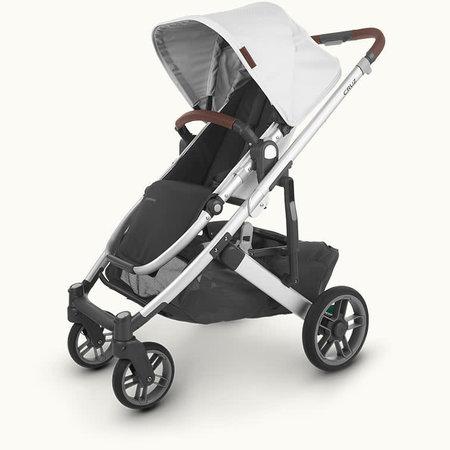 UPPAbaby UPPAbaby Cruz V2 Stroller- BRYCE (white marl/silver frame/chestnut leather)