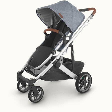UPPAbaby UPPAbaby Cruz V2 Stroller- GREGORY (blue mélange/silver frame/saddle leather)
