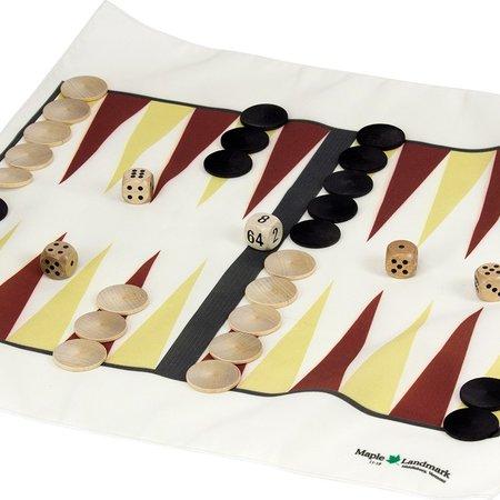 Maple Landmark Games To Go- Backgammon