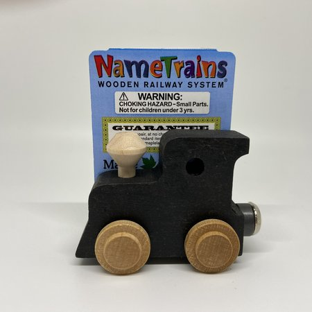 Maple Landmark Magnetic NameTrain Train Car Engine Black
