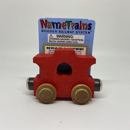 Maple Landmark Magnetic NameTrain Train Car Caboose Red