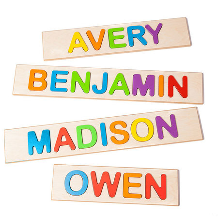 Fat Brain Toys Personalized Name Puzzle