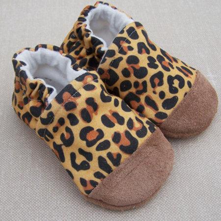 Snow & Arrow Organic Cotton Slippers Cheetah