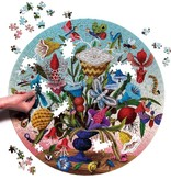 eeBoo Crazy Bug Bouquet 500 Piece Round Puzzle