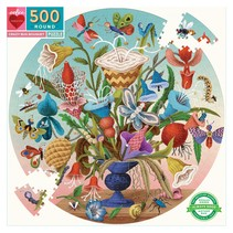 Crazy Bug Bouquet 500 Piece Round Puzzle