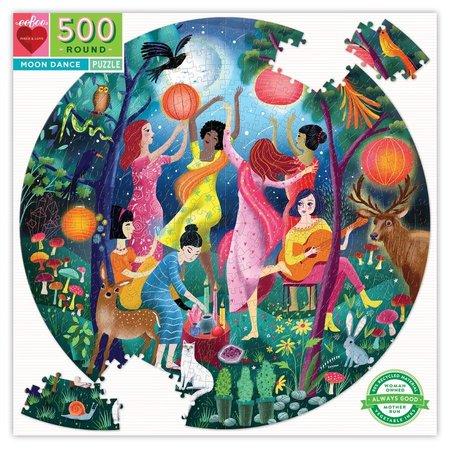 eeBoo Moon Dance 500 Piece Round Puzzle
