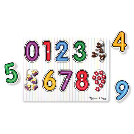 Melissa & Doug See Inside Numbers Peg Puzzle