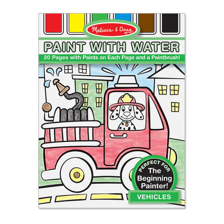 Melissa & Doug Paint with Water- Vehicles