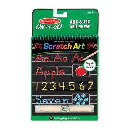 Melissa & Doug Scratch Art- ABC & 123 Writing Pad